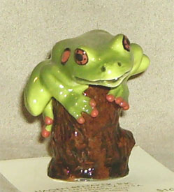 Hagen Renaker Miniature, Tree Frog/Stump