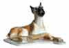 Dogs, Hagen Renaker Miniature, Boxer Lying Pedigree