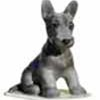 Dogs, Hagen Renaker Miniature, Scottish Terrier Pedigree