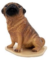 Dogs, Hagen Renaker Miniature, Pug Pedigree