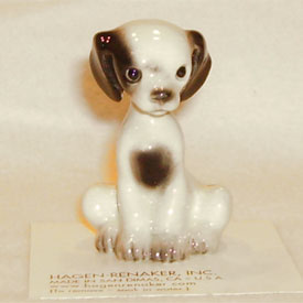 Hagen Renaker Miniature, Puppy Sitting-1