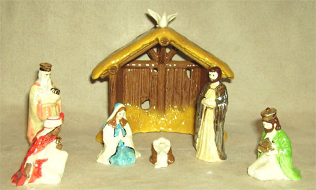Hagen Renaker Miniature, Nativity Set 7 pc