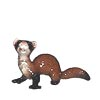 In The Woods, Hagen Renaker Miniature, Ferret Lying