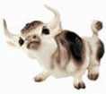 On The Farm, Hagen Renaker Miniature, Spotted Bull