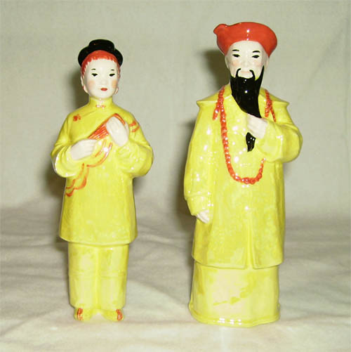 Unusual Pieces, Hagen Renaker Miniature, Chinese Couple